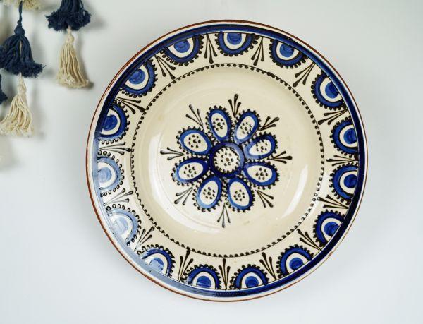 Vintage Wandteller aus Keramik für das gemütliche Wohnzimmer im Ethno Style