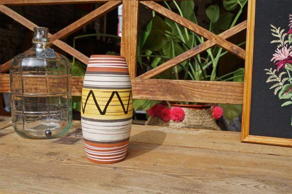 Vintage Vase 50er ethno