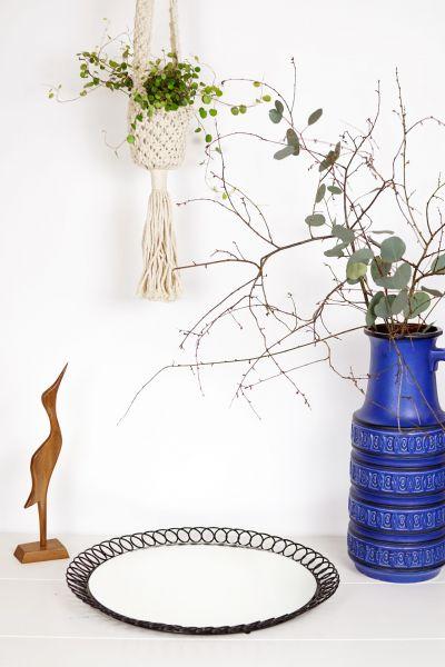 Vintage Spiegel der 60er Jahre String als Deko im Boho Style für dein gemütliches Zuhause