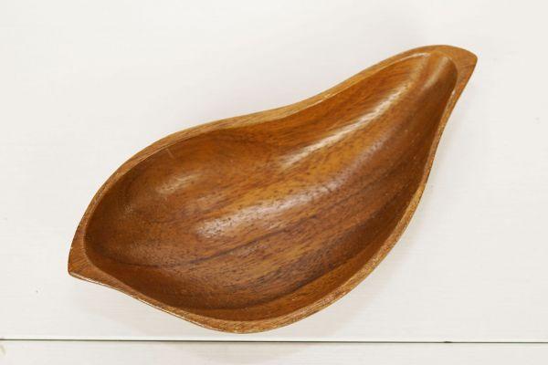 Holzschale Teak geschwungen Vintage für deinen schön gedeckten Tisch
