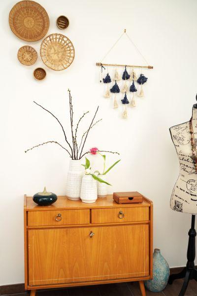 Wanddeko aus Korb für dein Zuhause im Boho Look