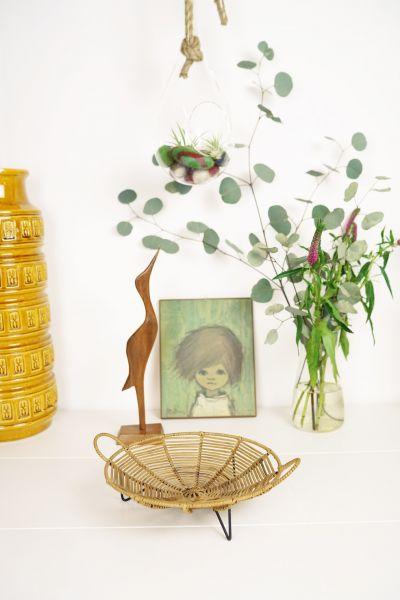 Servierkörbchen aus den 50er Jahren für das gemütliche Zuhause im Boho Style