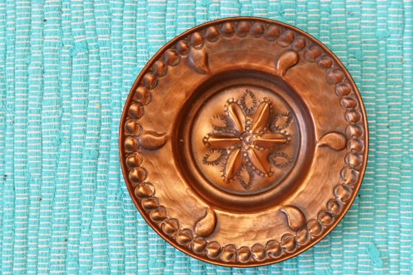 Wandteller aus Kupfer als Deko für dein vintage Zuhause im Ethno Stil