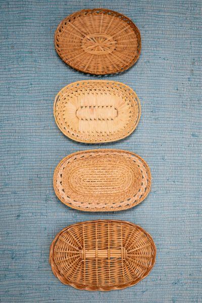 Set aus ovalen Vintage Wandkörben als Wanddekoration für dein Zuhause