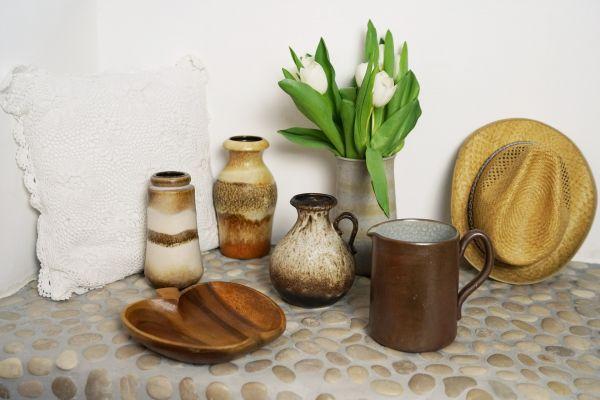 Vintage Keramik Krug für deinen schön gedeckten Tisch im Vintage Stil