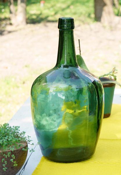 Vintage Flaschenvase im Boho Look für das Wohnen im Sommer und als Deko für dein gemütliches Wohnzimmer im Urban Jungle Style