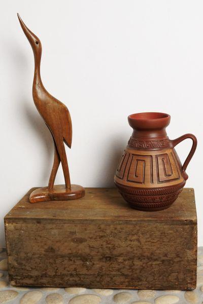 Holzkranich als Deko für dein gemütliches Zuhause im Vintage Stil