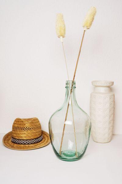 Flaschenvase aus Glas Vintage als Deko für dein Zuhause im Boho Vintage Stil