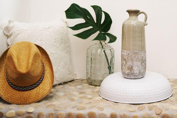 Große Krugvase mit toller Glasur als Deko für dein gemütliches Zuhause