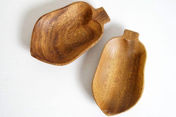 Holzschale Vintage klein mit kurzem Stiel