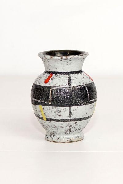 Scheurich Vase klein rote Sreifen